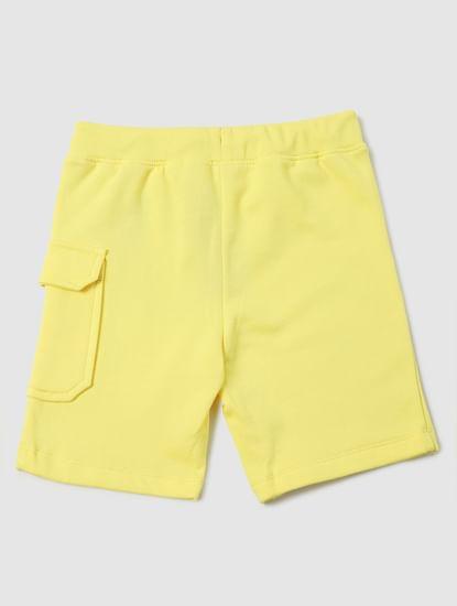 Boys Yellow Mid Rise Sweatshorts