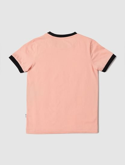 BOYS X ANIMAL PLANET Peach Graphic Print Crew Neck T-shirt