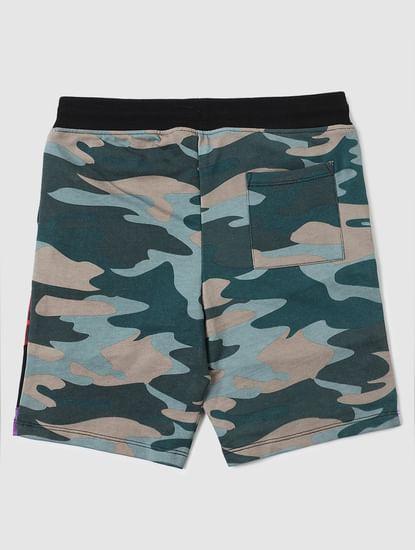 Boys Multi-coloured Camo Sweatshorts