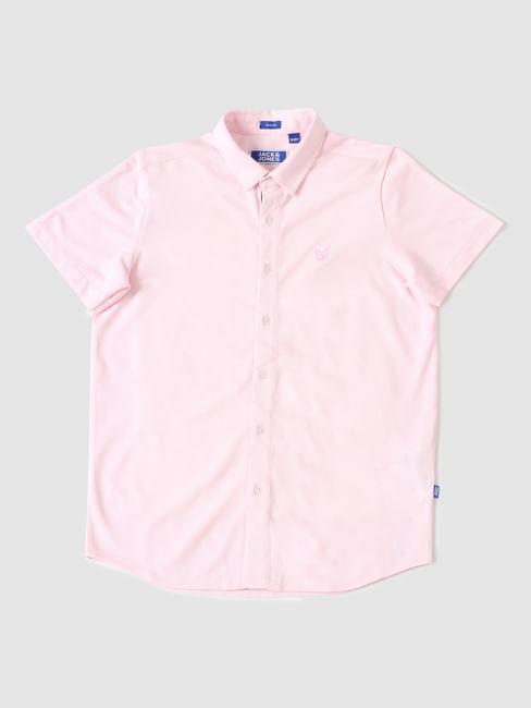 Boys Pink Half Sleeves Shirt