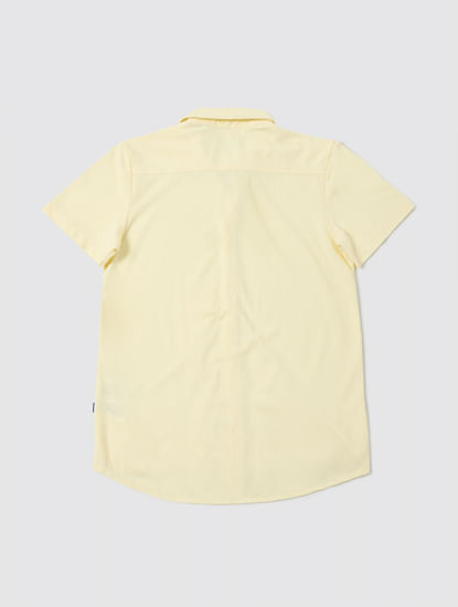 Boys Yellow Half Sleeves Shirt