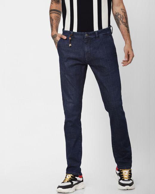 'PROTECT' Dark Blue Low Rise Tim Slim Fit Jeans