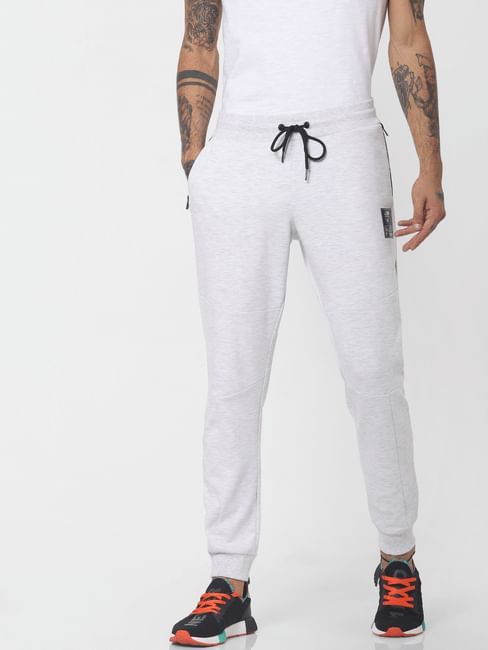 Light Grey Mid Rise Drawstring Sweatpants