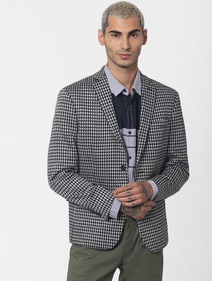 Grey Colourblocked Full Sleeves Shirt