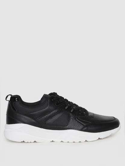 Black PU Sneakers