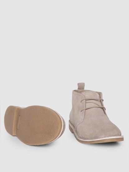 Beige Suede Chukka Boots