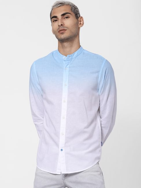 Blue Ombre Full Sleeves Shirt