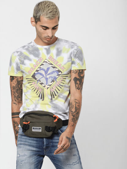 White Tie Dye Crew Neck T-shirt