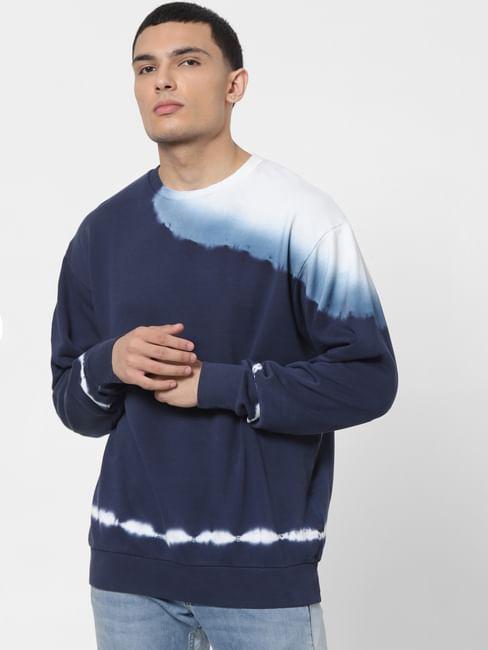 Blue Tie Dye Oversized Sweatshirt