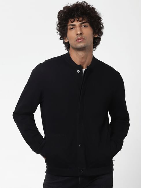 Protect Black Front Open Jacket