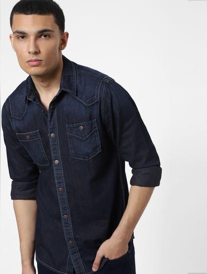 Blue Full Sleeves Denim Shirt