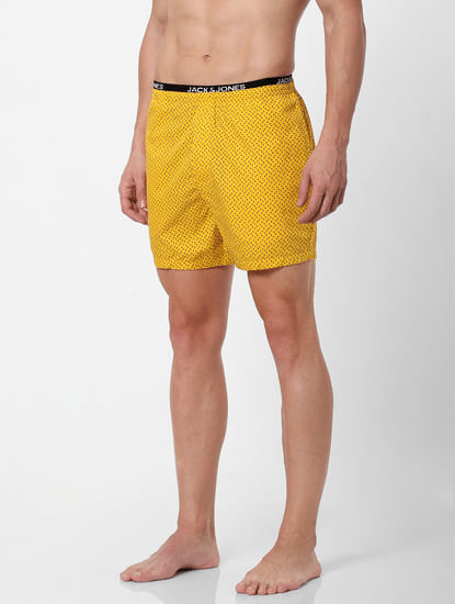 Yellow All Over Print Boxers
