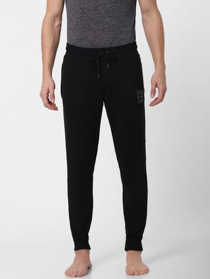 Black Zipped Pocket Trackpants