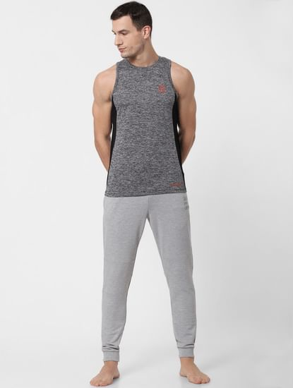 Grey Zipped Pocket Trackpants