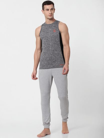 Grey Colourblocked Vest