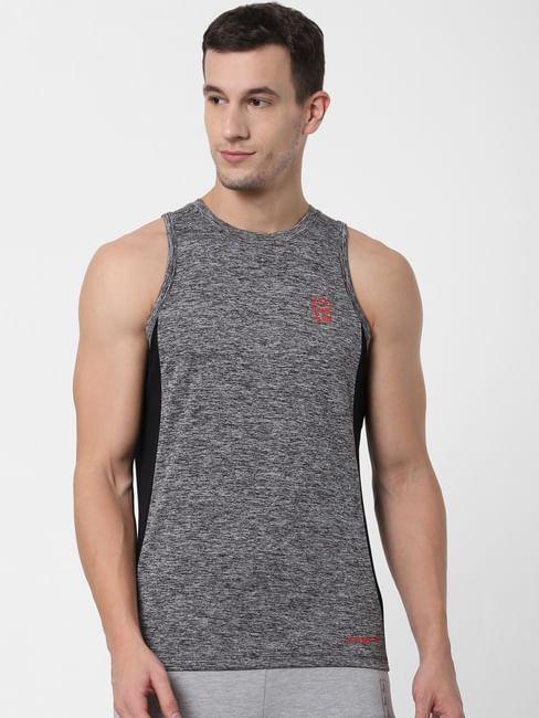 Grey Colourblocked Vest