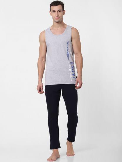 Grey Logo Print Vest