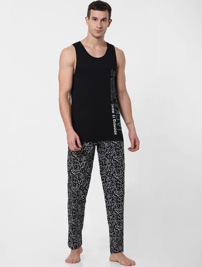 Black Dice Print Pyjama