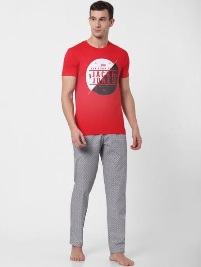 Grey Printed Pyjama