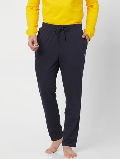 Mid Rise Navy Blue Sweatpants