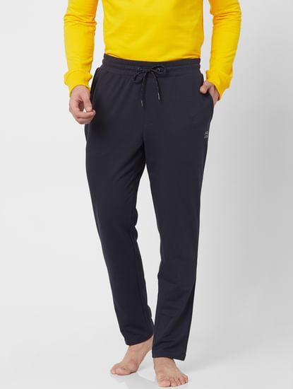 Mid Rise Navy Blue Sweatpants