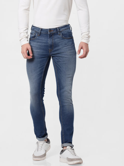 Blue Low Rise Ben Skinny Jeans