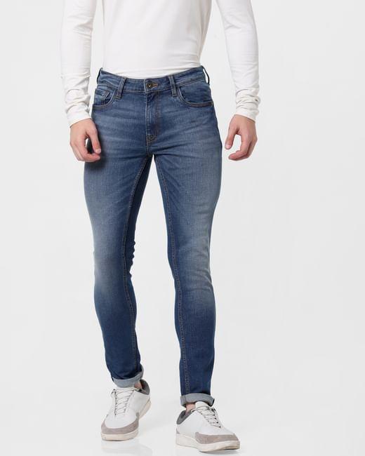 Blue Low Rise Ben Skinny Jeans