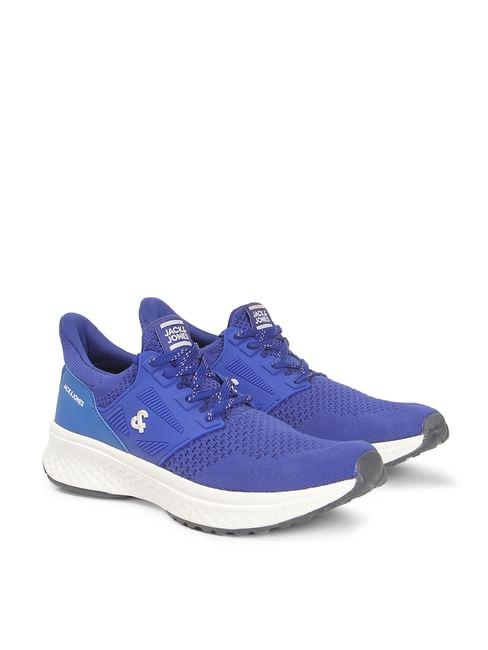 Blue Mesh PU Sneakers