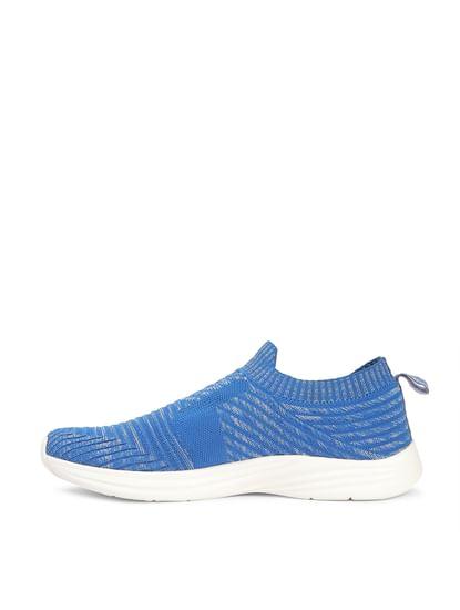 Blue Knit Slip Ons