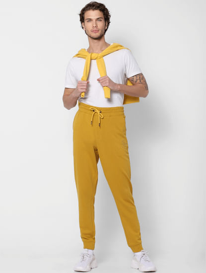Yellow Mid Rise Sweatpants