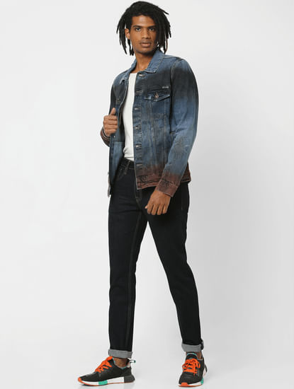 Blue Washed Denim Jacket