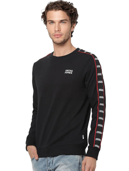 Black Tape Detail Sweatshirt
