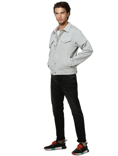 Grey Trucker Jacket
