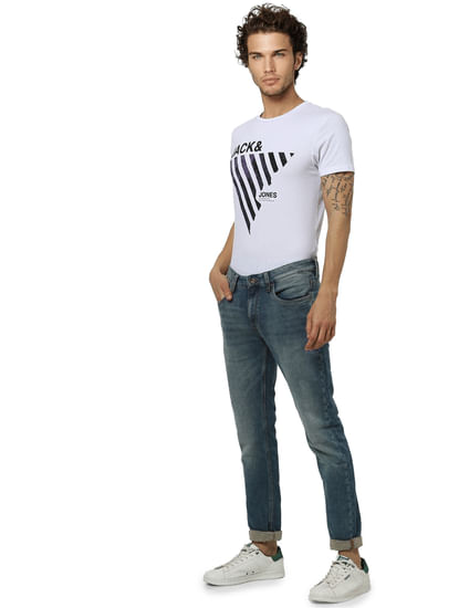 Light Blue Low Rise Ben Washed Skinny Fit Jeans