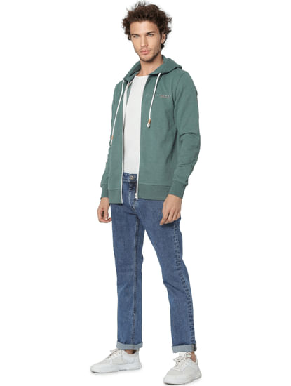Blue Low Rise Clark Washed Regular Fit Jeans