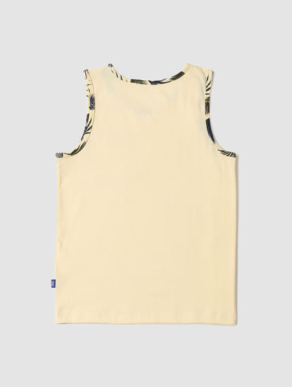 Boys Yellow Tropical Print Vest