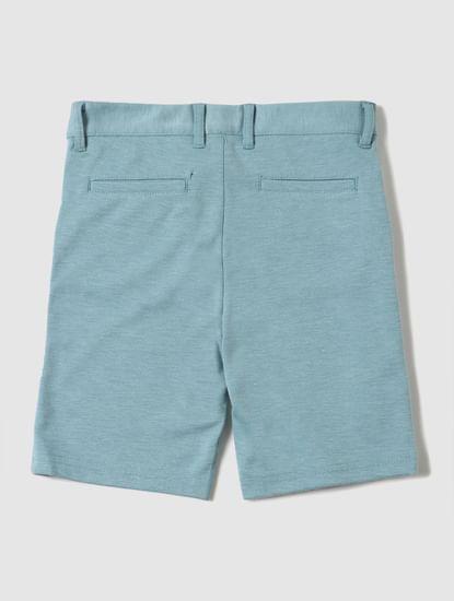 Boys Turquoise Mid Rise Chino Shorts