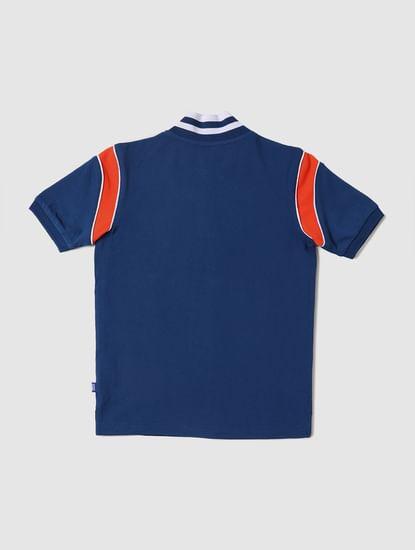 Boys Blue Polo Neck T-shirt