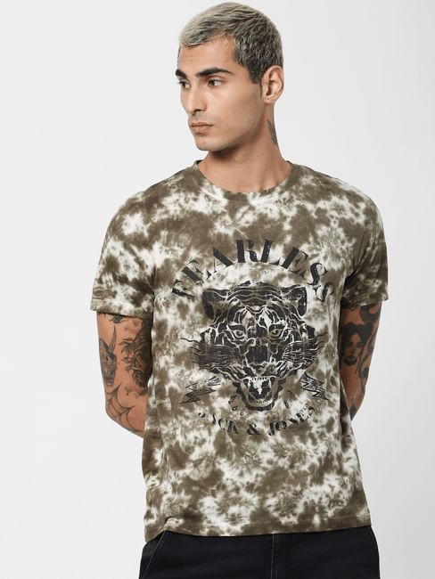 Green Tie Dye Crew Neck T-shirt