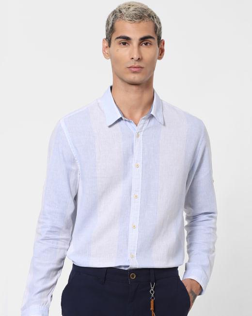 White Striped Bio Washed Shirt