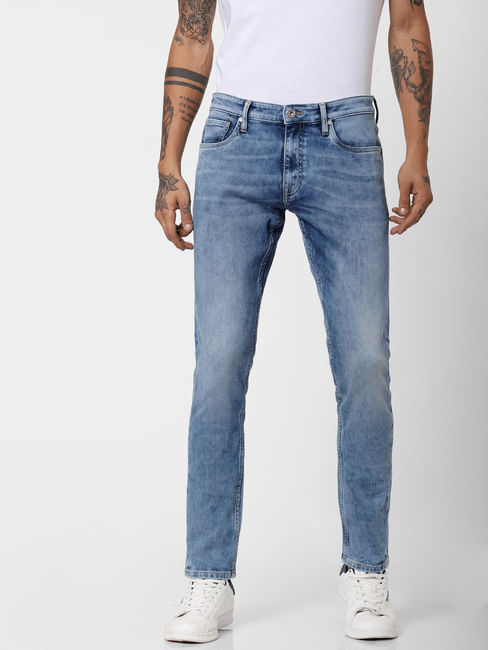 Light Blue Low Rise Washed Liam Skinny Jeans