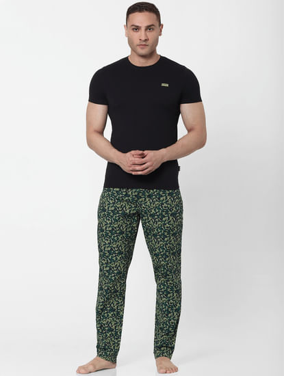 Green Abstract Print Pyjamas