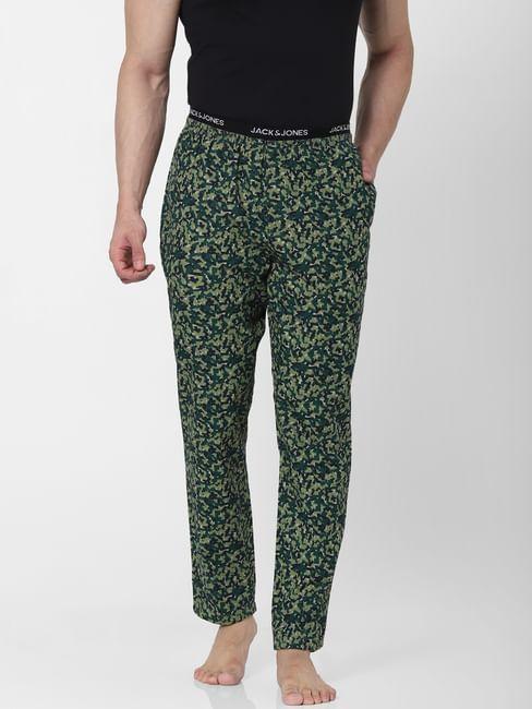 Green Abstract Print Pyjamas