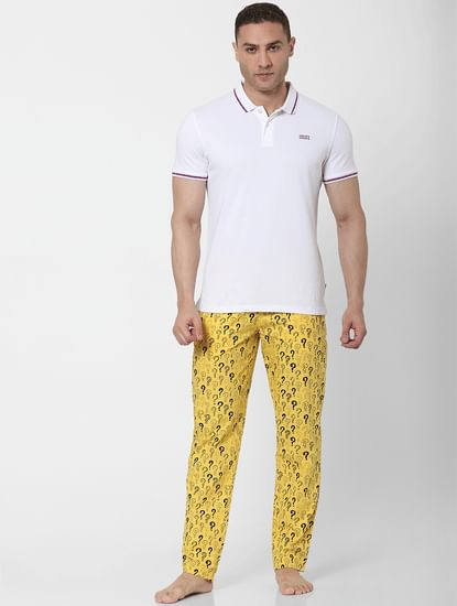 Yellow Question Mark Print Pyjamas