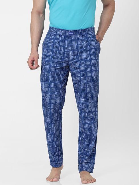 Blue Abstract Print Pyjamas