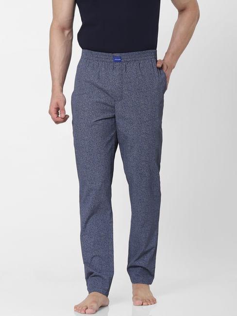 Blue Grain Print Pyjamas