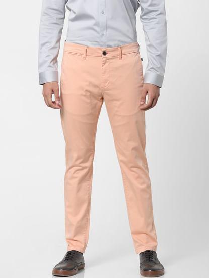 Pink Mid Rise Chino Pants