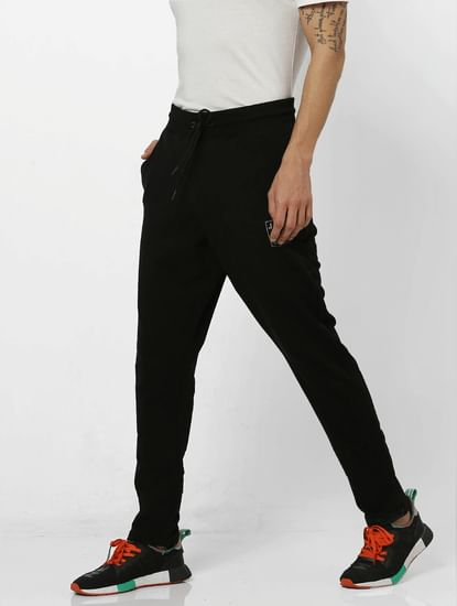 Black Mid Rise Trackpants