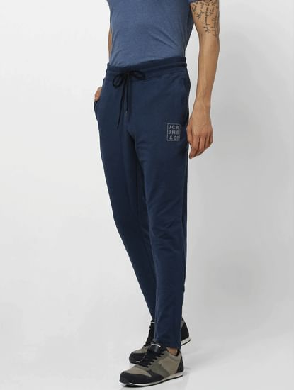Blue Mid Rise Trackpants
