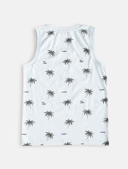 Junior Blue Tropical Print Vest